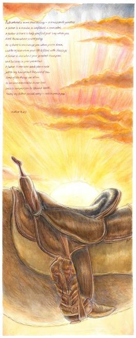 saddle-finished