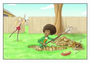 Time Sandwich - Backyard, Present Day