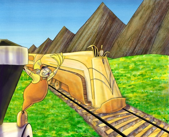 Good Night Tales, The Little Engine that Could: The Golden Engine Stopped