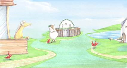 "Good Night Tales: The Little Red Hen ""No Way!"""